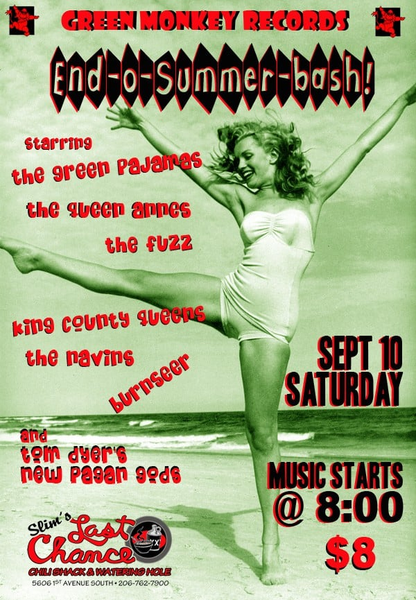 Green Monkey Bash At Slim's This Saturday!!!