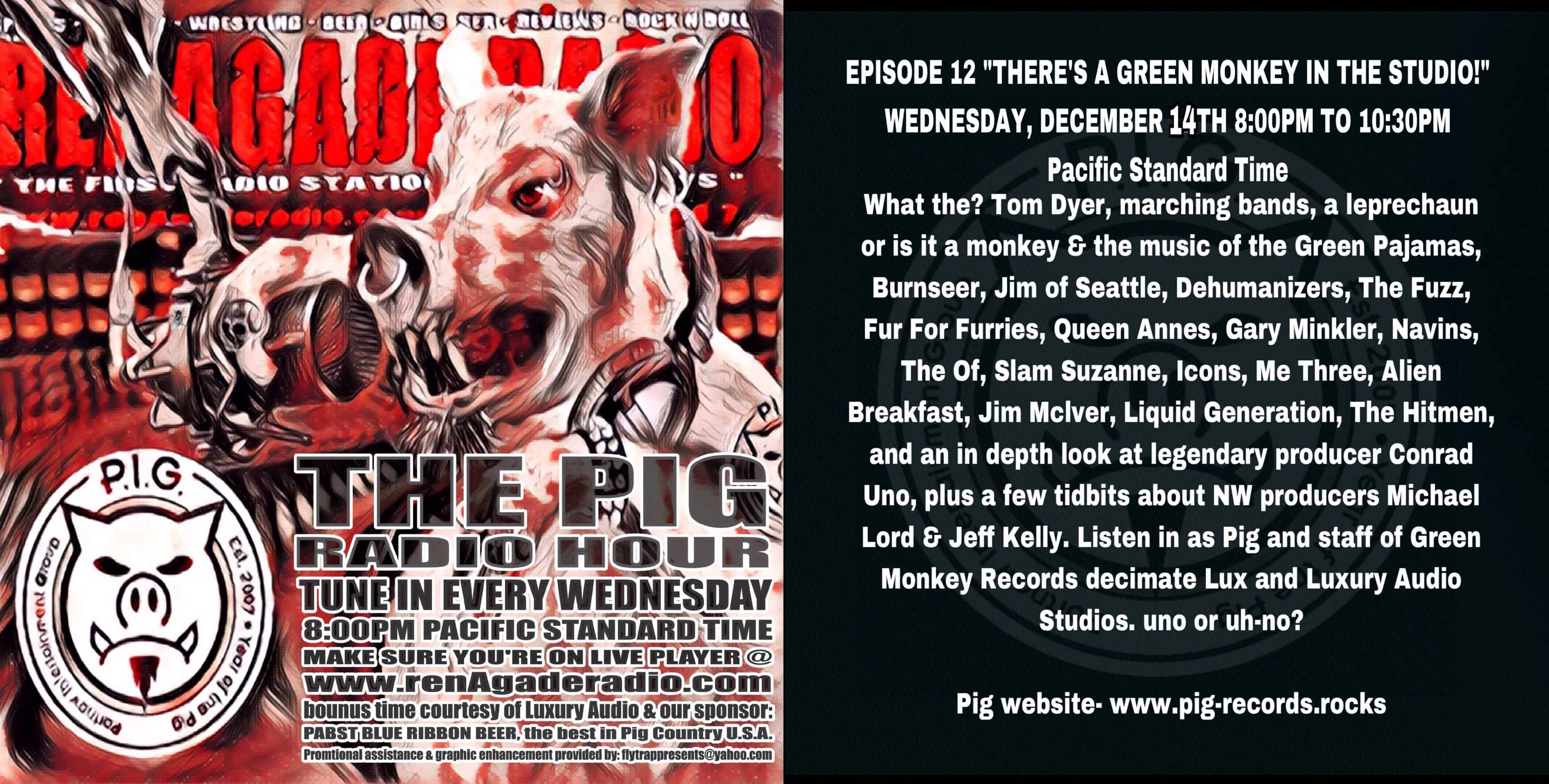 Tom Dyer Interviewed on The Pig Radio Hour This Wednesday!